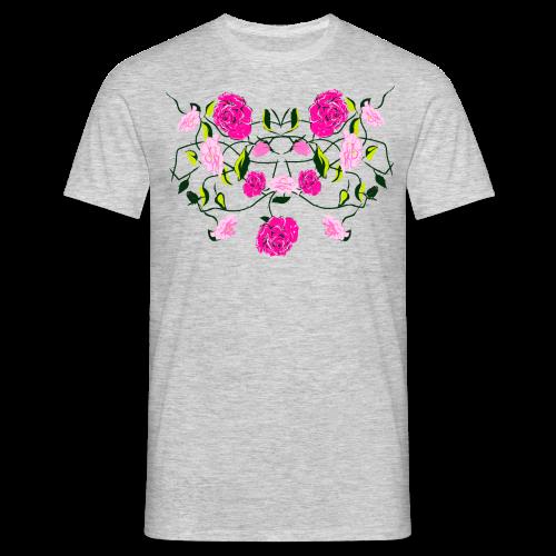 Langarmshirt für Frauen mit Rosen - Männer T-Shirt