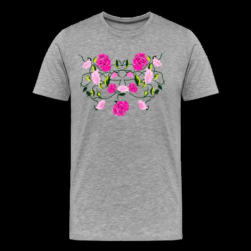 Langarmshirt für Frauen mit Rosen - Männer Premium T-Shirt
