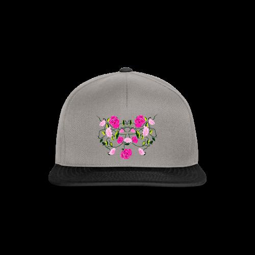 Langarmshirt für Frauen mit Rosen - Snapback Cap