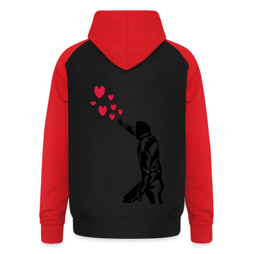 Langarmshirt , Frauenshirt mit Sprayer und Herzen - Unisex Baseball Hoodie