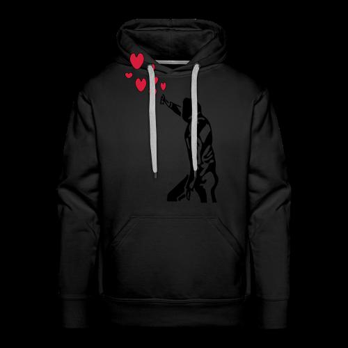 Langarmshirt , Frauenshirt mit Sprayer und Herzen - Männer Premium Hoodie
