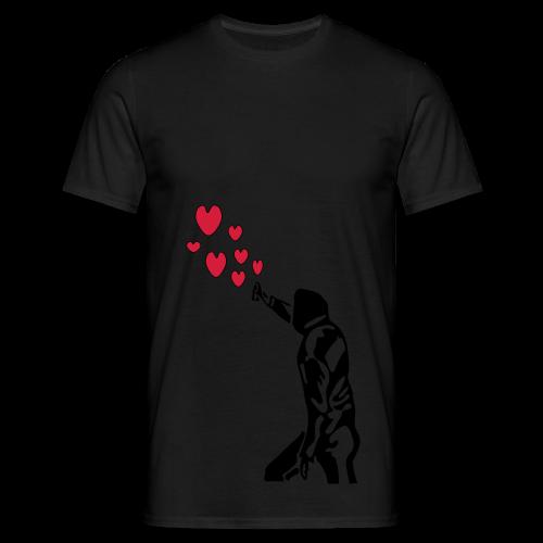 Langarmshirt , Frauenshirt mit Sprayer und Herzen - Männer T-Shirt
