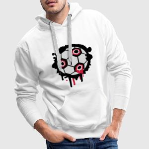 Un graffiti de football Tee shirts - Sweat-shirt à capuche Premium pour hommes