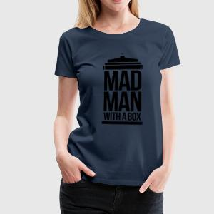 Mad man with a box Langarmshirts - Frauen Premium T-Shirt