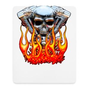 Skull  Flaming  - Tapis de souris (format portrait)