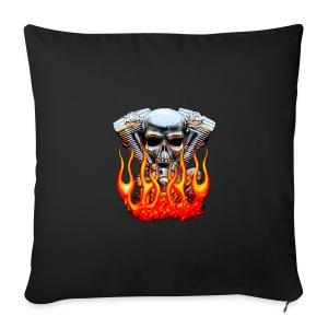 Skull  Flaming  - Housse de coussin décorative 44x 44cm
