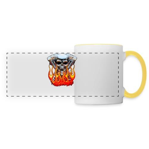 Skull  Flaming  - Mug panoramique contrasté et blanc