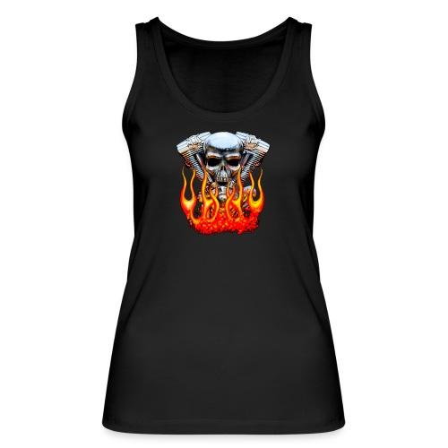 Skull  Flaming  - Débardeur bio Femme