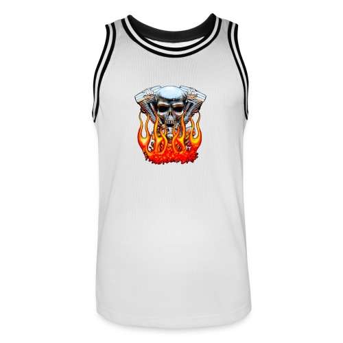 Skull  Flaming  - Maillot de basket Homme