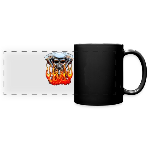 Skull  Flaming  - Mug panoramique uni
