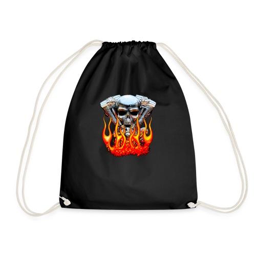 Skull  Flaming  - Sac de sport léger