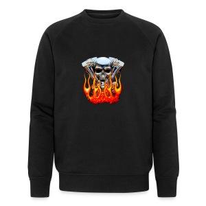 Skull  Flaming  - Sweat-shirt bio Stanley & Stella Homme