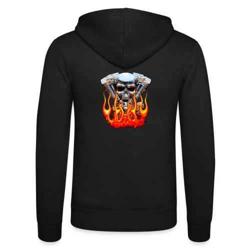 Skull  Flaming  - Veste à capuche unisexe Bella + Canvas