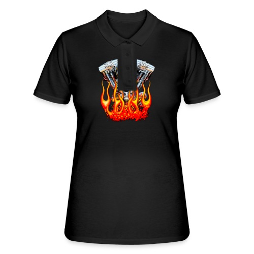 Skull  Flaming  - Women's Polo Shirt