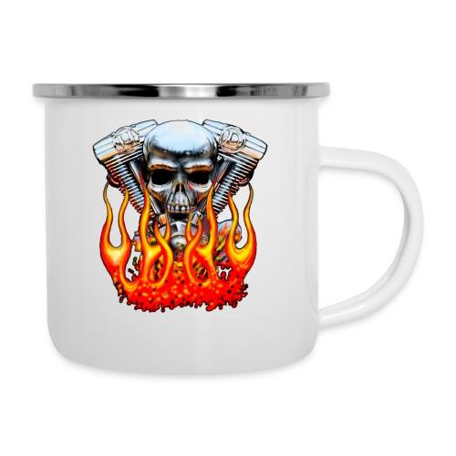 Skull  Flaming  - Tasse émaillée