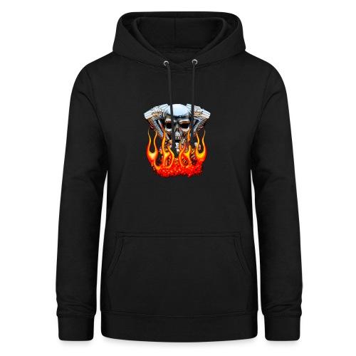 Skull  Flaming  - Sweat à capuche Femme