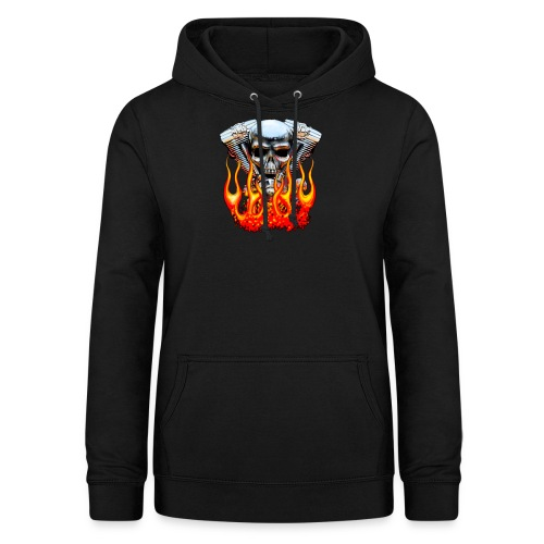 Skull  Flaming  - Sweat à capuche Femme