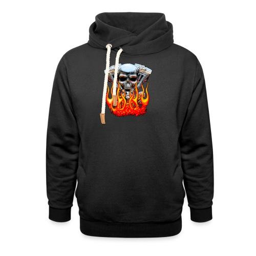 Skull  Flaming  - Sweat à capuche cache-cou