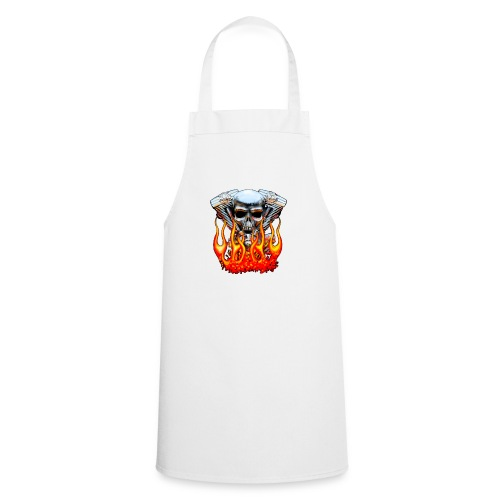 Skull  Flaming  - Tablier de cuisine