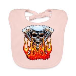 Skull  Flaming  - Bavoir bio Bébé