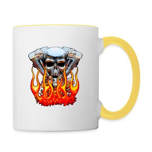 Skull  Flaming  - Mug contrasté