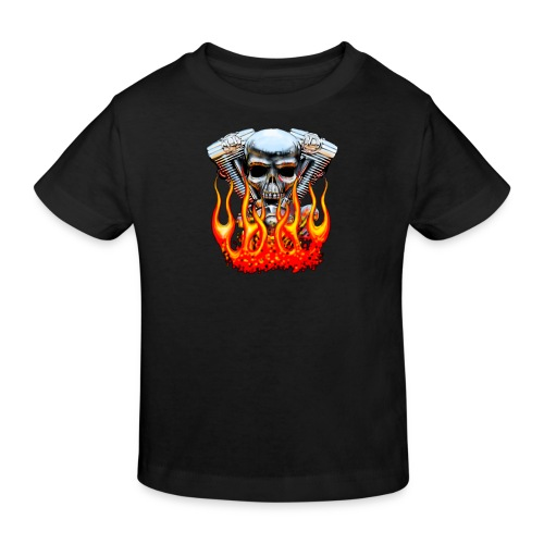 Skull  Flaming  - T-shirt bio Enfant