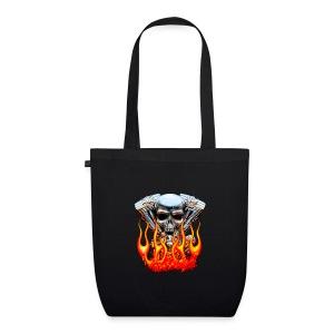Skull  Flaming  - Sac en tissu biologique