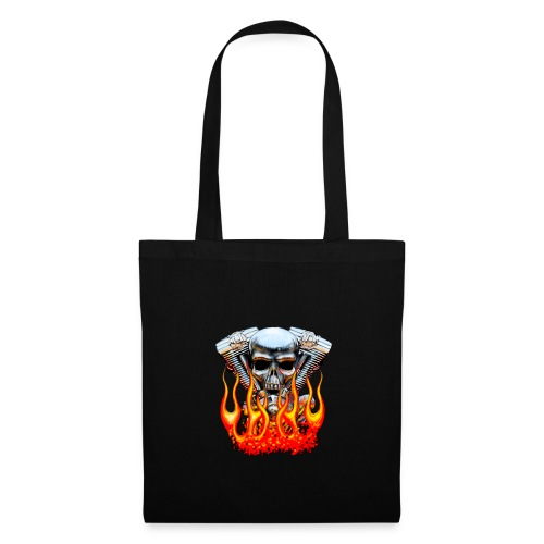 Skull  Flaming  - Tote Bag