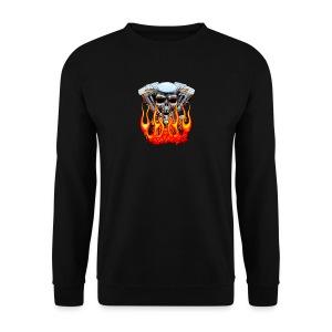 Skull  Flaming  - Sweat-shirt Homme