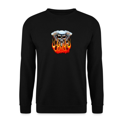 Skull  Flaming  - Sweat-shirt Homme