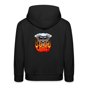 Skull  Flaming  - Pull à capuche Premium Enfant