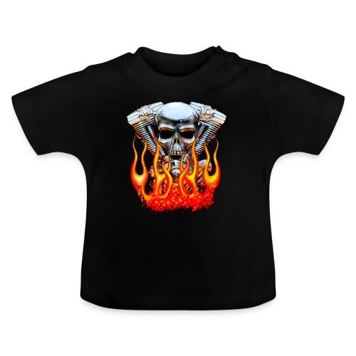Skull  Flaming  - T-shirt Bébé