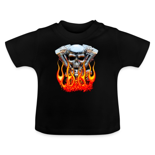 Skull  Flaming  - T-shirt Bébé