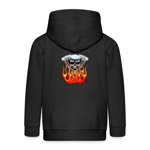 Skull  Flaming  - Veste à capuche Premium Enfant