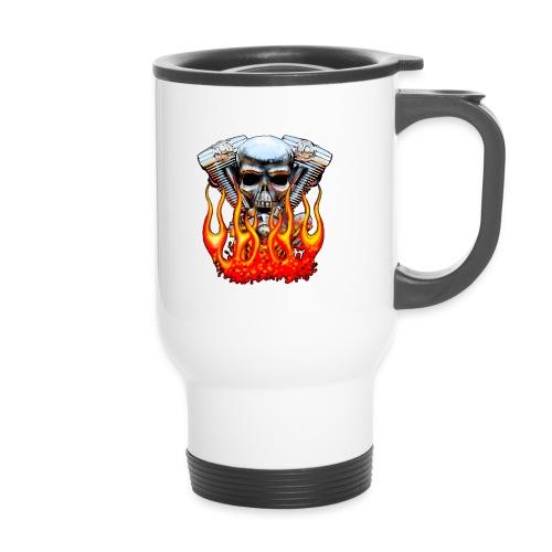 Skull  Flaming  - Mug thermos