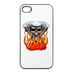 Skull  Flaming  - Coque rigide iPhone 4/4s