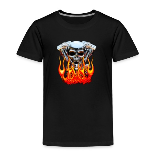 Skull  Flaming  - T-shirt Premium Enfant