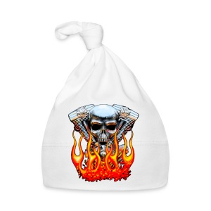 Skull  Flaming  - Bonnet Bébé