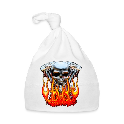 Skull  Flaming  - Bonnet Bébé