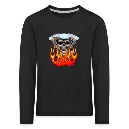 Skull  Flaming  - T-shirt manches longues Premium Enfant