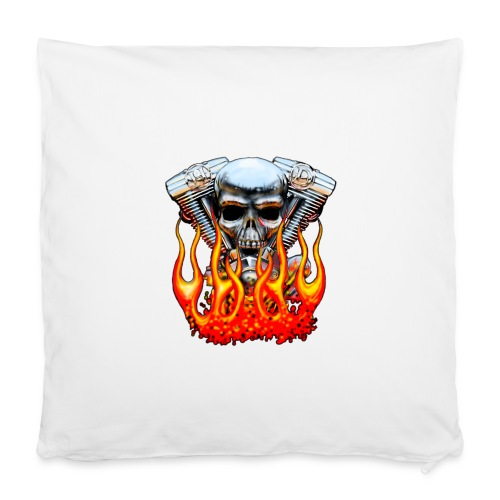 Skull  Flaming  - Housse de coussin 40 x 40 cm