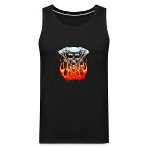 Skull  Flaming  - Débardeur Premium Homme
