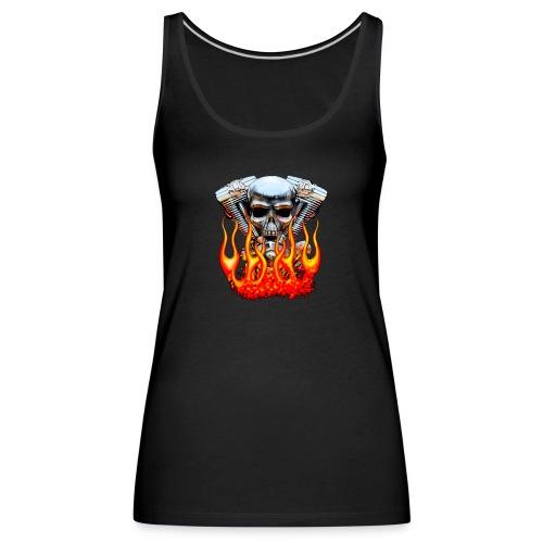 Skull  Flaming  - Débardeur Premium Femme
