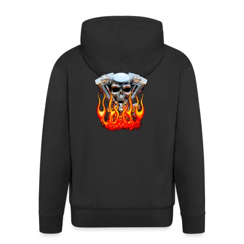 Skull  Flaming  - Veste à capuche Premium Homme