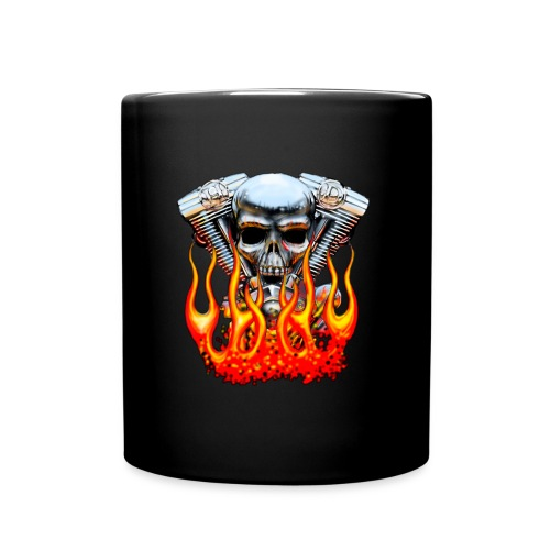 Skull  Flaming  - Mug uni