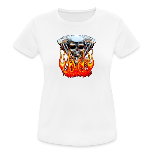 Skull  Flaming  - T-shirt respirant Femme