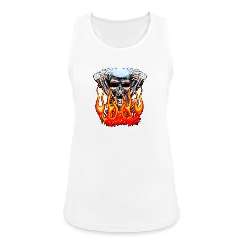 Skull  Flaming  - Débardeur respirant Femme