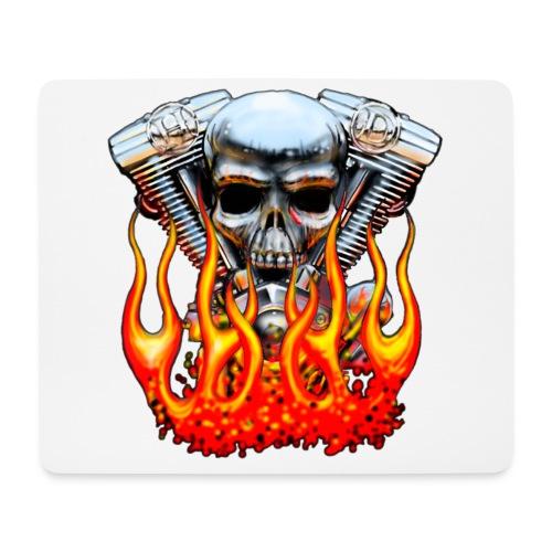 Skull  Flaming  - Tapis de souris (format paysage)