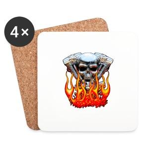 Skull  Flaming  - Dessous de verre (lot de 4)