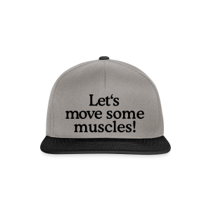 Let's move some muscles T-Shirt (Damen/Weiß) - Snapback Cap